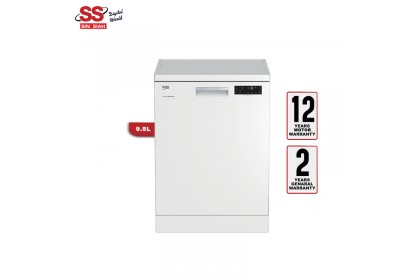 Beko DFN-28R22W 14 Place Settings A++ Energy Efficient Pro Smart Inverter 9.5L Water Consumption Free Standing Dishwasher