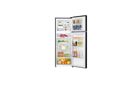 LG GN-C372SXCC BLACK 312L Door Cooling+ Linear Inverter Multi Air Flow Moist Balance Crisper Twin Door Refrigerator