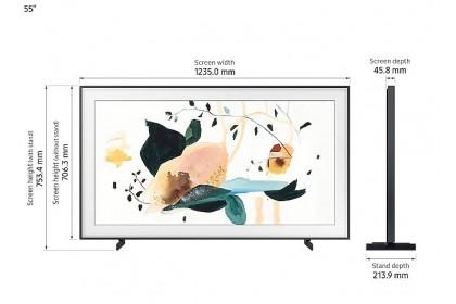 "Samsung 55"" QA55LS03TAKXXM 4K Art Mode QLED Smart Tizen Bixby One Connect Quantum Dot Display Frame TV"