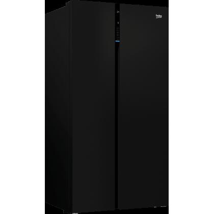 Beko GN163130ZGB BLACK 640L GLass BLack Inverter Neofrost Anti BacteriaL Odor FiLter Side By Side Refrigerator