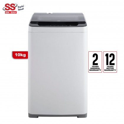 Beko BTU1008W WHITE 10KG BLack GLass Soft CLose Lid Washing Machine