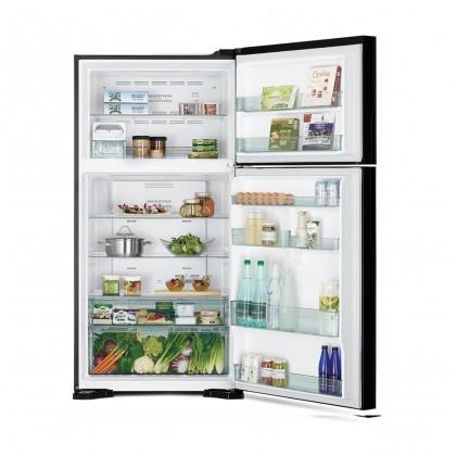 Hitachi R-VG660P7M-1 GBK BLACK 565L Inverter X Dual Fan Cooling Touch Screen Panel 2 Glass Door Refrigerator
