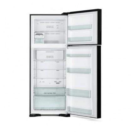 Hitachi R-VG580P7M-1 GBK BLACK 489L Glass Touch Screen Control Inverter-x Dual Fan Cooling Nano Titatium Twin Door Refrigerator