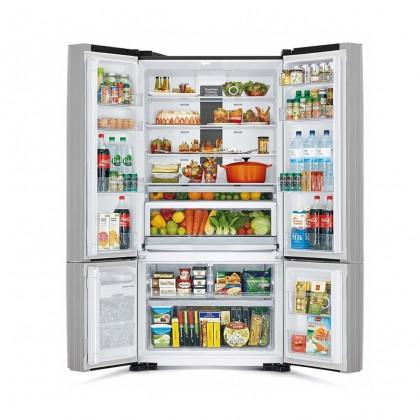 Hitachi R-WB850P5M XGR GRAY 700L 4 Door French Glass Door Inverter Dual Fan Cooling Nano Titanium Refrigerator